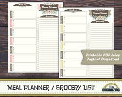 Menu Planner With Grocery List Template Menu Planner With Grocery List Template Menu Planner And Grocery
