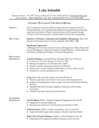Resume For Restaurant Resume Resume For Kitchen Hand