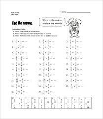 multiplying fractions worksheets 6th grade worksheets