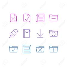 supprimer icone bureau illustration vectorielle de 12 icônes de bureau pack modifiable de