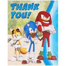 sonic the hedgehog party supplies sonic the hedgehog invitations thank yous sonic the hedgehog