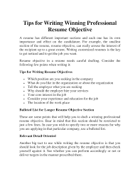 Proper Resume Objective Guide To Writing A Resume 79 Marvellous How To Write A Resume