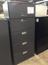 hon five drawer file cabinet charcoal gray 30 w five drawer lateral file cabinet by hon