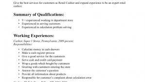 Cashier Resume Experience 4aresume Com Wp Content Uploads 2016 04 Resumes Go
