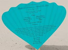 Diy Wedding Fan Programs Diy Seashell Wedding Program Fan Barbados U0026 Brooklyn Ny