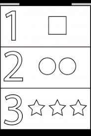 numbers shapes u2013 4 worksheets free printable worksheets