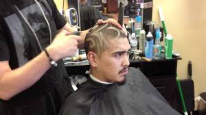 seattle barbers that do seahawk haircuts dj taber full head design haircut freestyle youtube