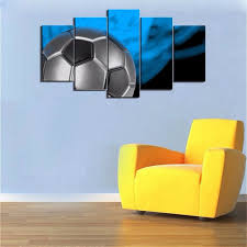 Sports Nursery Wall Decor Canvas Soccer Football Sports Themed Canvas Wall For Boys