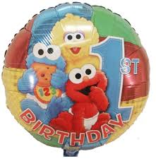 sesame birthday sesame 1st birthday theme happy birthday mylar balloons