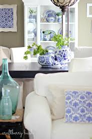 Blue And White Decorating Blue And White Porcelain In The Hutch