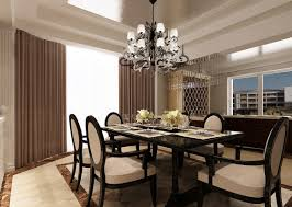Chandeliers For Dining Room Contemporary Chandelier A Contemporary Dining Room With Rectangular