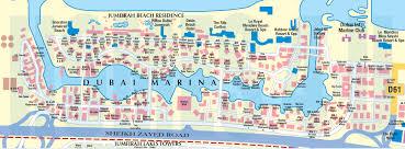 dubai marina map