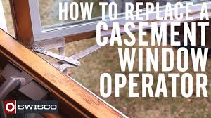 how to replace a wood casement window crank operator diy video