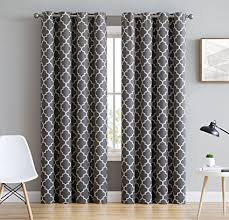 Insulated Window Curtains Hlc Me Lattice Print Thermal Insulated Blackout Window