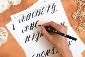 free brush pen calligraphy worksheet neat slant edition the