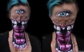 professional special effects makeup beautiful makeup artist transforms herself terrifying creatures