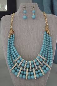 turquoise colored necklace images Robin 39 s egg blue necklace set jpg