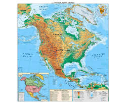 Mexico Central America And South America Map by Maps Of North America And North American Countries Political