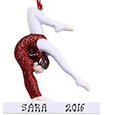 personalized gymnastics gymnast ornament
