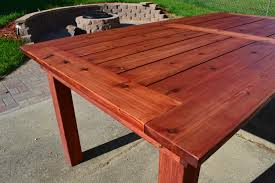 ana white beautiful cedar patio table diy projects