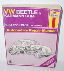 details about vw beetle karmann ghia automotive repair manual 1954