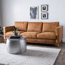 leather sofa outlet stores shop for filmore 89 inch tan leather sofa get free shipping at