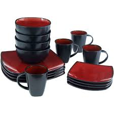 better homes and gardens 16 piece dinnerware set tuscan red