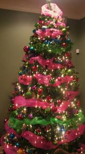 pink christmas tree ornaments christmas lights decoration
