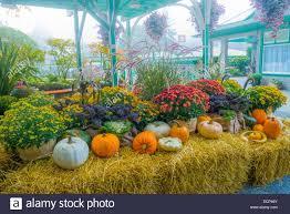 fall harvest display butchart gardens british columbia canada