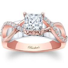 princess cut gold engagement rings barkevs 14k white gold princess cut twist engagement ring
