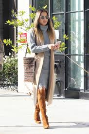 sweater dress and lovely layers chung s grey sweater dress and camel vest