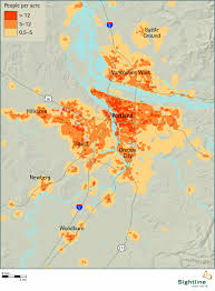 Portland Oregon On Map by Portland Area Population Density Sightline Institute