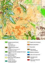 Wyoming vegetaion images Mountains and plains maps png