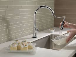 Touch Technology Kitchen Faucet Trinsic Pull Touch Single Handle Kitchen Faucet With