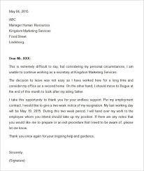 2 weeks notice letter format 50 samples csat co