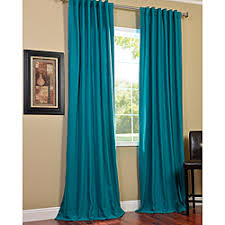 Cotton Curtains And Drapes Overstock Com Cotenza Turquoise Faux Cotton Curtain Panel