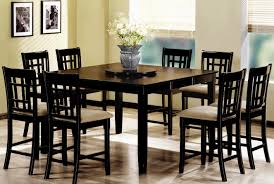 black dining room table set dining room kitchen table height awesome tall dining room table