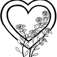 envelope full of hearts and roses coloring page color luna