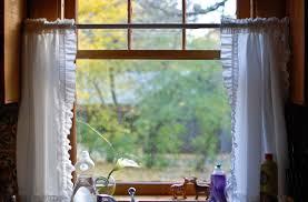 installing kitchen curtain to beautify kitchen interior hort decor