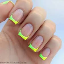 neon green french tip nails pictures photos and images for