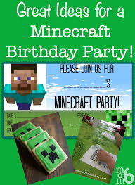 great ideas for a minecraft birthday party momof6