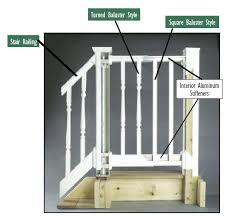 railing section endurance original rail stair kit 36h x 96w