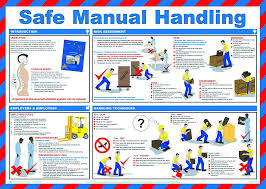 safety u0026 prevention posters safe manual handling aid training