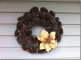 pine cone wreath j