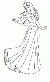 learn sleeping beauty coloring pages princess aurora dancing