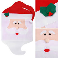 Santa Chair Covers Santa Chair Cover Christmas Set Seat Cover Decorations For Home