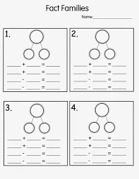 number fact families fact family worksheets 1st grade kiddo shelter worksheets