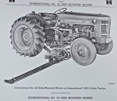 ih international farmall super ai 23 balanced sickle highway mower