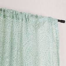 aliexpress com buy rod pocket paisley pattern faux linen sheer