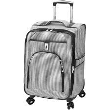 london fog cambridge 21 in expandable spinner carry on luggage